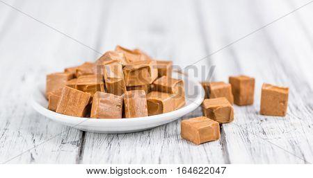 Caramel Candy (selective Focus, Close-up Shot)