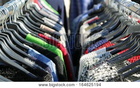 Many Winter Hanging Clothes For Sale