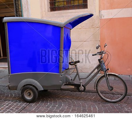 Vehicle With Pedals Type Bicycle Of A Express Courier With The L
