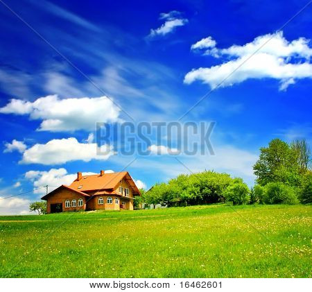 House on green hill