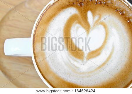 Cup of hot coffee Hot tasty mocca in white mug