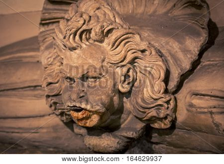 Wind blowing statue in Florence Tuscany Italy