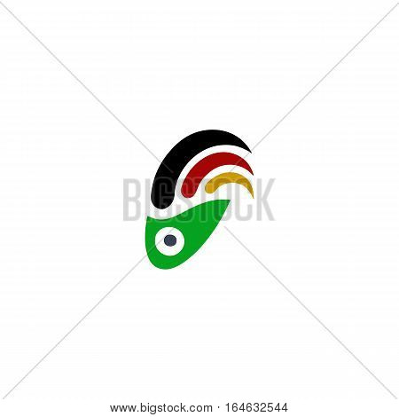 Beautiful Surf logo vector isolated on a white background.