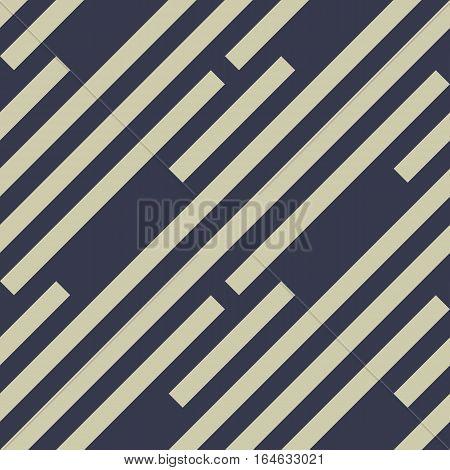 Seamless geometric pattern. Stripy texture. Diagonal khaki, dark purple, black strips. Labyrinth theme background. Vector