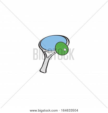 Tennis Racket And Ball isolated on a white backgorund.