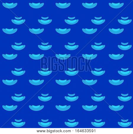 Sea wave blue seamless pattern for Australia Day Holiday. Wavy blue abstract background. Flat concept design.