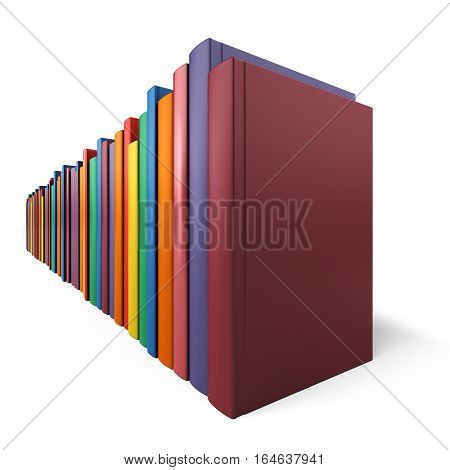 Color book in line isolated on a white background, 3d illustration