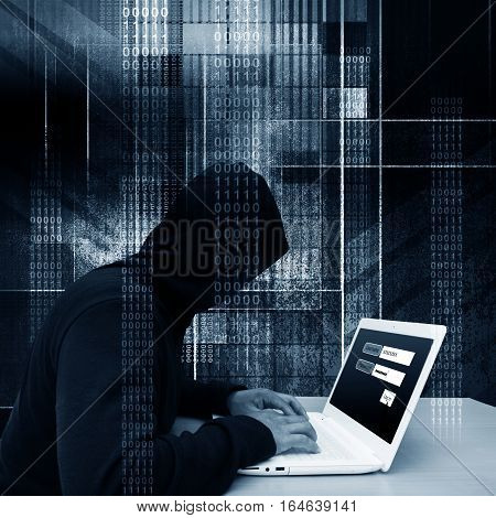 Computer hacker or Cyber attack concept background
