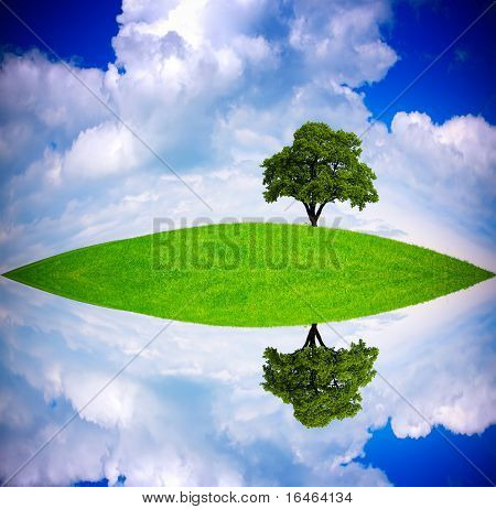 Global ecology concept