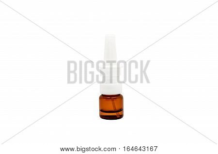 nasal spray isolated on a white background.
