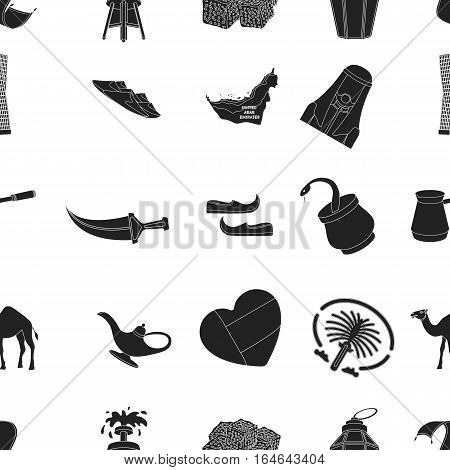 Arab Emirates pattern icons in black style. Big collection of Arab Emirates vector symbol stock