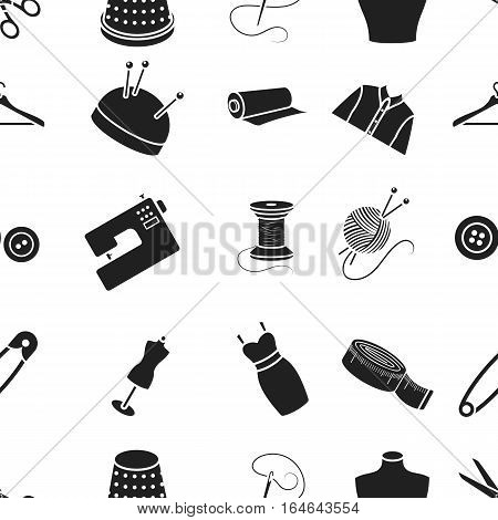 Atelie pattern icons in black style. Big collection of atelie vector symbol stock