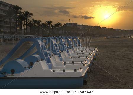 Beach Fun In Spain