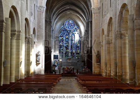 Gournay en Bray France - september 7 2016 : the Saint Hildevert collegiate church