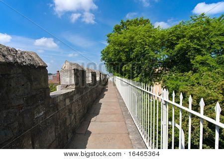 Walls round York, UK