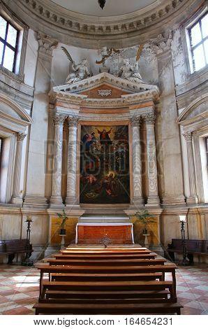 Venice, Italy - June 22: Interior Of San Giorgio Maggiore Church On The Island Of The Same Name On J