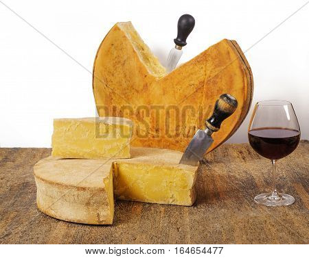 Aged Cheeses With Wine