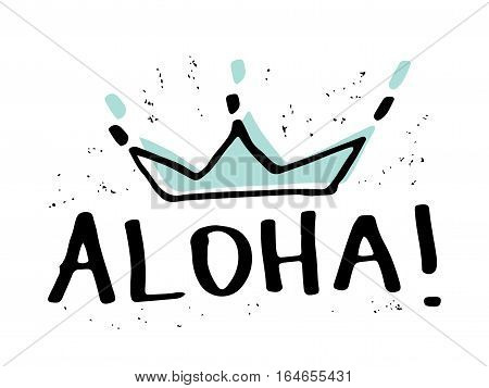 Aloha t-shirt graphics slogan tee illustration design