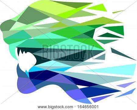 logo illustration animal tiger virtual digital colorful