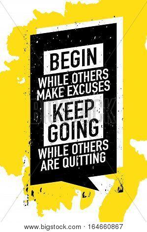 Success motivation concept motivational quote poster design