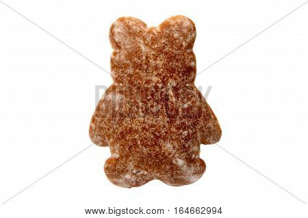 traditional gingerbread isolated on white background .