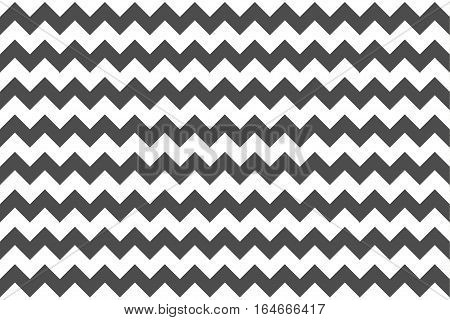 Classic zig-zag seamless pattern for textile, paper print. grey. Vector illustration