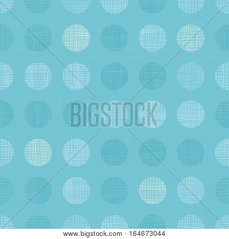 Vector Vintage Pastel Blue bay Boy Dots Circles Seamless Pattern Background With Fabric Texture. Perfect for nursery, birthday, circus or fair themed designs. Surface pattern design.