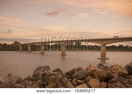 Thailand Isan Nong Khai Mekong Friendship Bridge