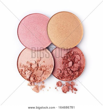 Golden And Beige Crushed Blush Or Eye Shadow