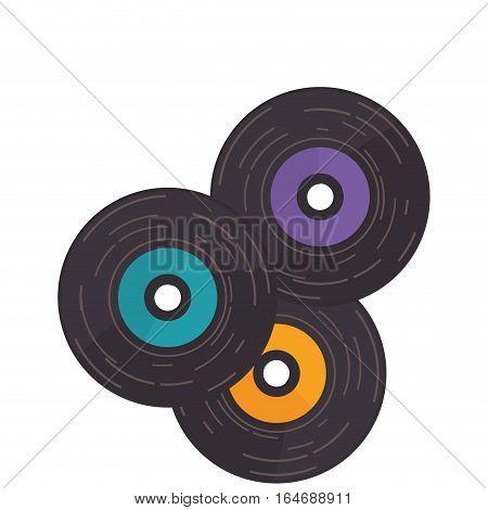 disk vinyl retro music vector illustration design