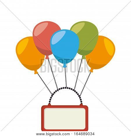 balloons air party isolated icon vector illustration design