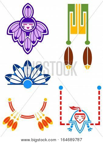 Inspired by Native American imagery, but not specific to any particular tribe.  Pueblo Deco Motifs