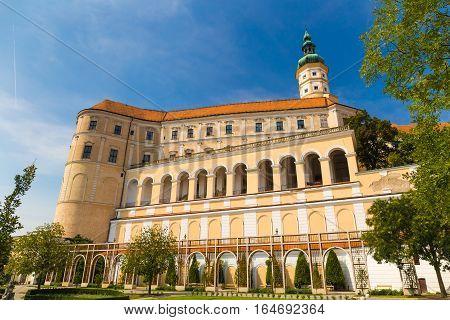 Beautiful Mikulov castle Southern Moravia Czech Republic