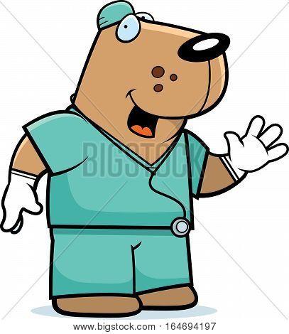 Cartoon Dog Doctor