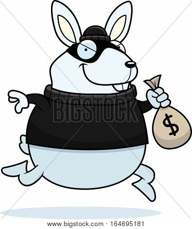 Cartoon Rabbit Burglar