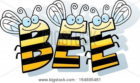 Cartoon Bee Word