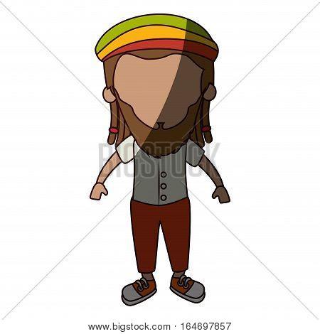 jamaican man character icon vector illustration design