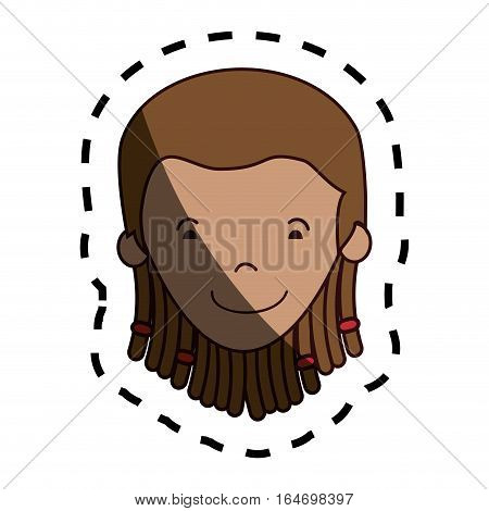 jamaican woman character icon vector illustration design