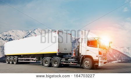 Logistic by Container truck ,for transportation concept