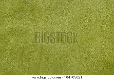 Green Suede Soft Leather As Texture Background. Close Up Leather Texture