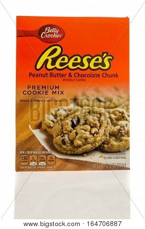 Winneconne WI - 7 January 2017: Box of Betty Crocker Reese's cookie mix on an isolated background.