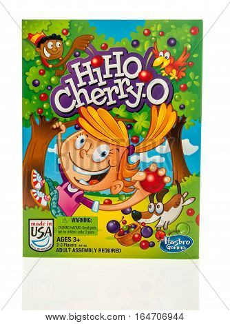 Winneconne WI - 8 January 2017: Box of Hi Ho Cherry-O game on an isolated background.