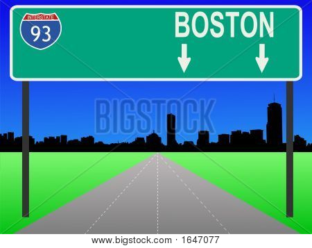 Boston With Interstate