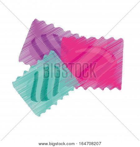 wrapped candy icon over white background. colorful design. vector illustration