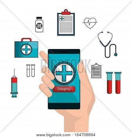 mobile health technology icon vector illustration design