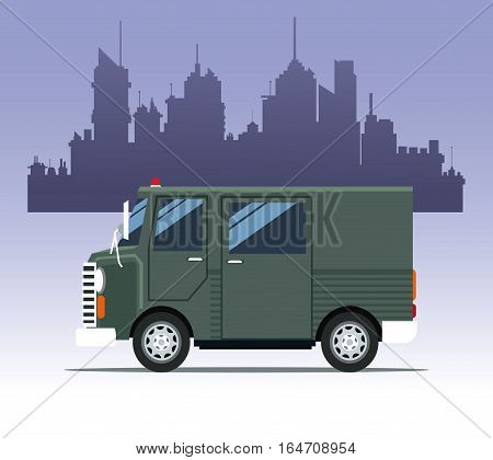 truck delivery town cargo vector illustration eps 10