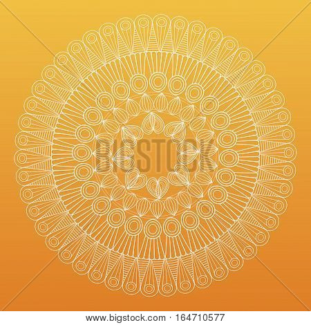 mandala bohemic decorated rituals vector illustration yellow background
