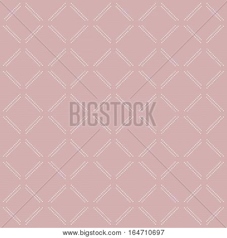 Geometric repeating pattern. Seamless abstract modern texture for wallpapers and backgrounds. Pink and white pattern
