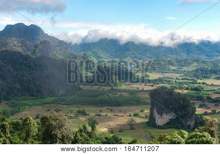 Landscape of Phu Lang Ka national park. Phayao province Thailand.
