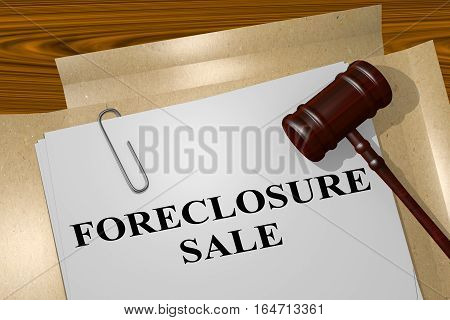 Foreclosure Sale - Legal Concept